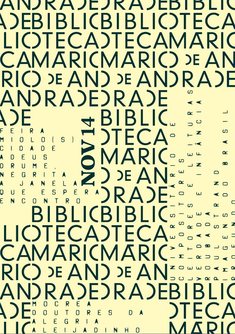 baixe a programação de novembro da Biblioteca Mário deAndrade